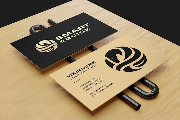 Realistisches logo und visitenkartenmodell