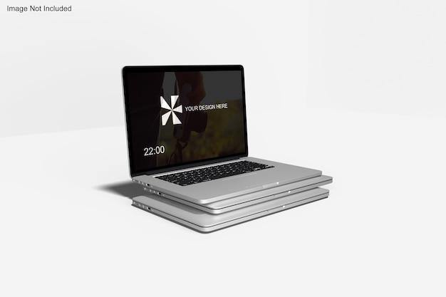 Realistisches macbook-modell