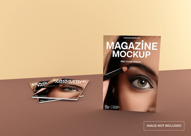 Realistisches magazin-cover-modell isoliert