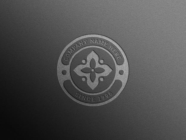 Realistisches minimalistisches logo-mockup mit eleganten schatten und texturen