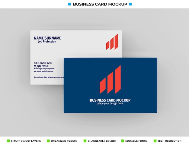 Realistisches papier-visitenkarten-modelldesign