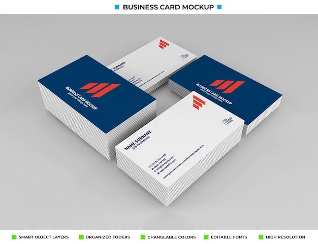 Realistisches papier-visitenkarten-modelldesign Premium PSD