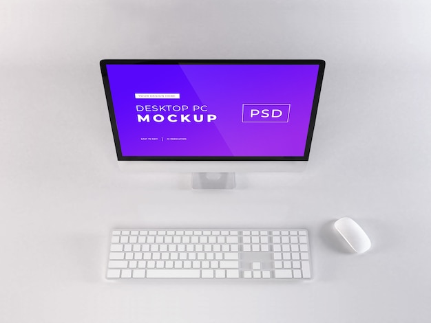 Realistisches personal computer mockup