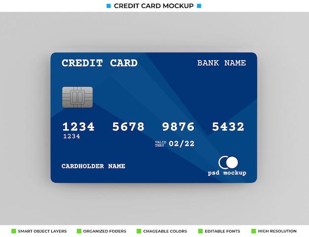 Realistisches plastikkredit- oder bankkartenmodell