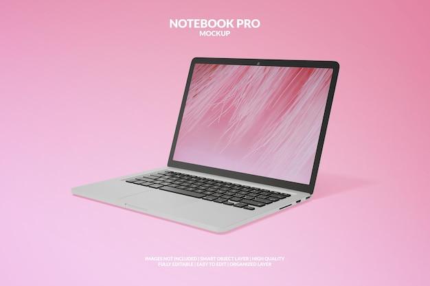 Realistisches premium-notebook-pro-modell