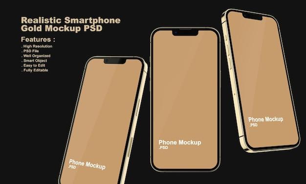 Realistisches premium-smartphone-modell