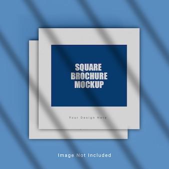 Realistisches quadratisches broschürenmodell
