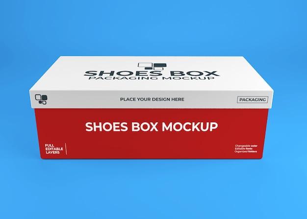 Realistisches schuhkarton-verpackungsmodell