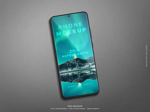 Realistisches smartphone-bildschirmmodell