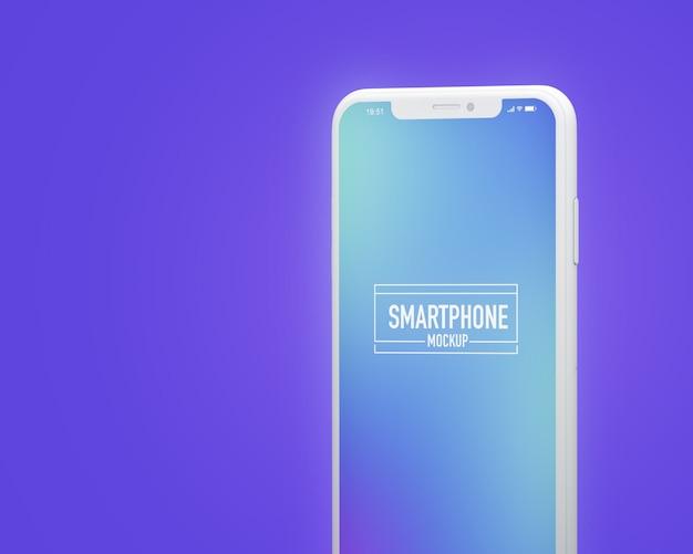 Realistisches smartphone-modell. bereinigen sie das smartphone-modell