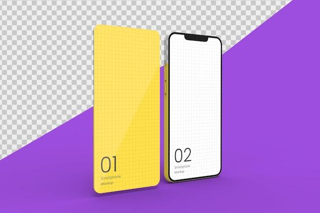 Realistisches smartphone-modell für app-promotion