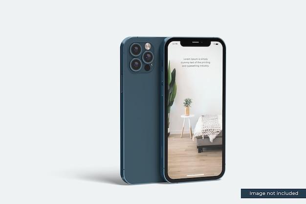 Realistisches smartphone-modell für designpräsentation