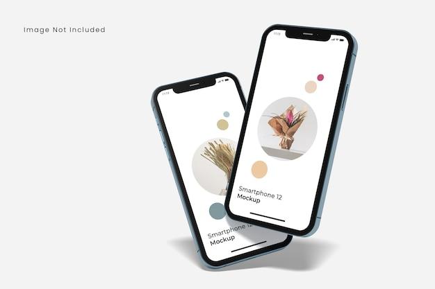 Realistisches smartphone-modell isoliert