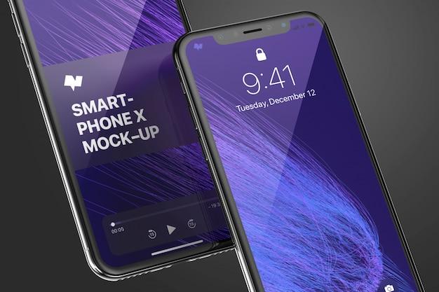 Realistisches smartphone-modell