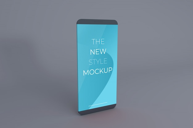Realistisches smartphone-modell.