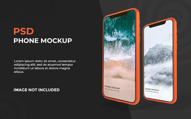 Realistisches smartphone-modelldesign im 3d-rendering Premium PSD