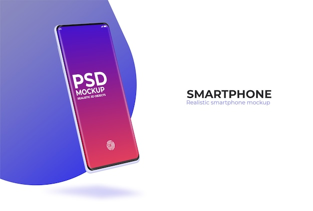 Realistisches smartphone-psd-modell für designpräsentation
