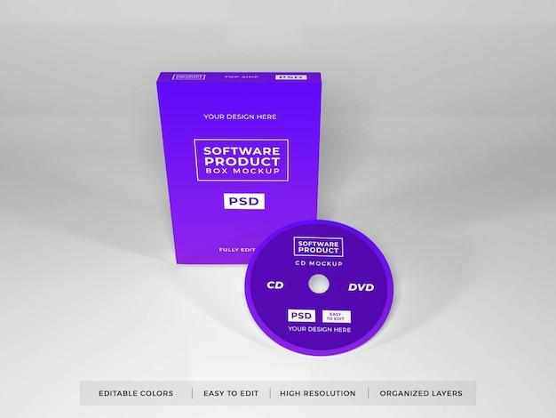 Realistisches software-box-produktmodell