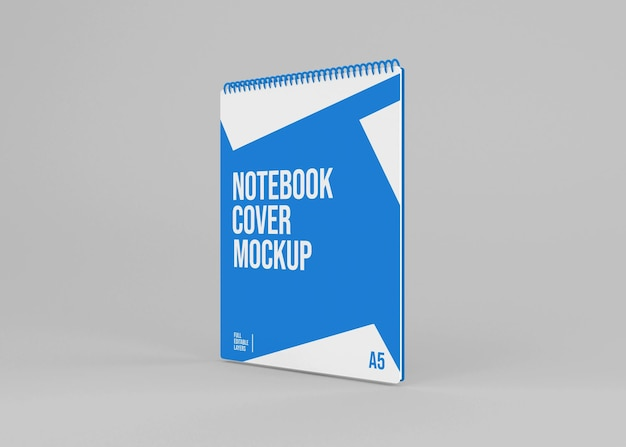 Realistisches spiral-hardcover-notizbuchmodell