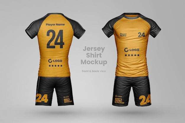 Realistisches sportbekleidungsmodell mit shorts und t-shirt ganzkörper
