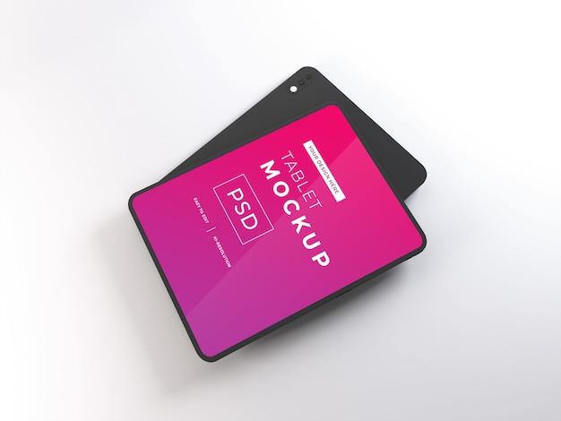 Realistisches tablet-gerät