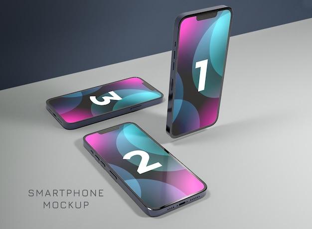 Realistisches telefondisplay-mockup