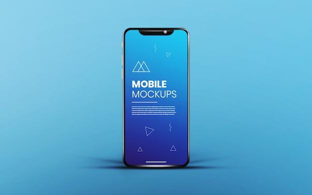Realistisches und sauberes app-bildschirm-smartphone-modell