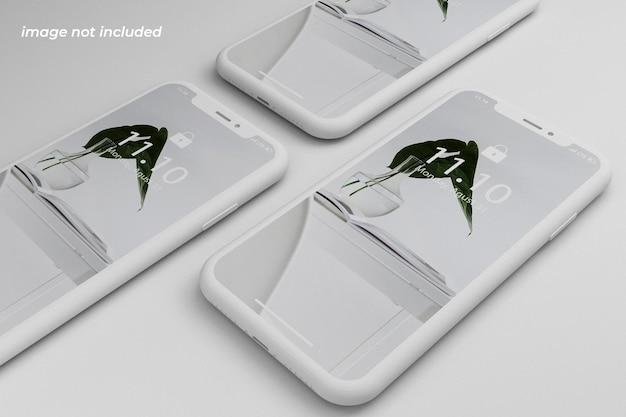 Realistisches und sauberes smartphone-modell