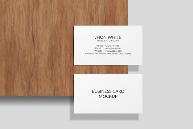 Realistisches visitenkarten-modelldesign