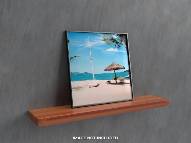 Realistisches wandmodell 3d rendern wandmontage wohnzimmer modell