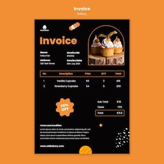 Rechnungsvorlage für bäckereien
