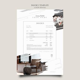 Rechnungsvorlage für luxusmieten