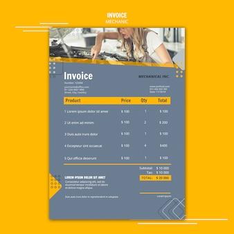 Rechnungsvorlage für mechanikerunterstützung