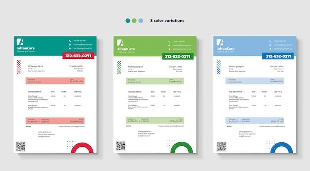 Rechnungsvorlagen