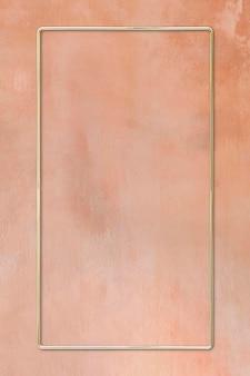 Rechteckiger rahmen auf rosa hintergrund