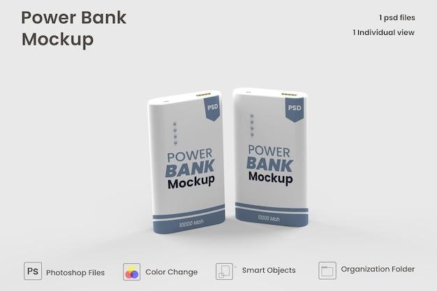 Rechteckiges powerbank-modell premium psd