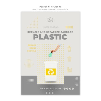 Recycling-poster-vorlage recyceln