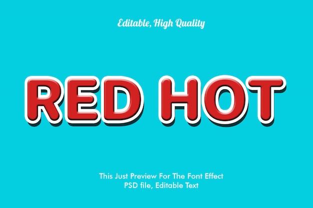 Red hot font-effekt-modell