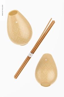 Reed diffusor gefäße mockup, schwimmend