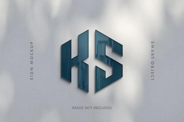 Reflection glass sign logo-effekt