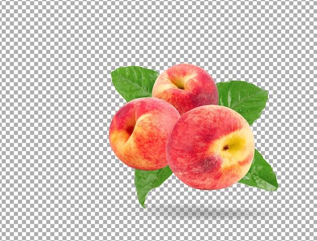 Reife pfirsichfrucht
