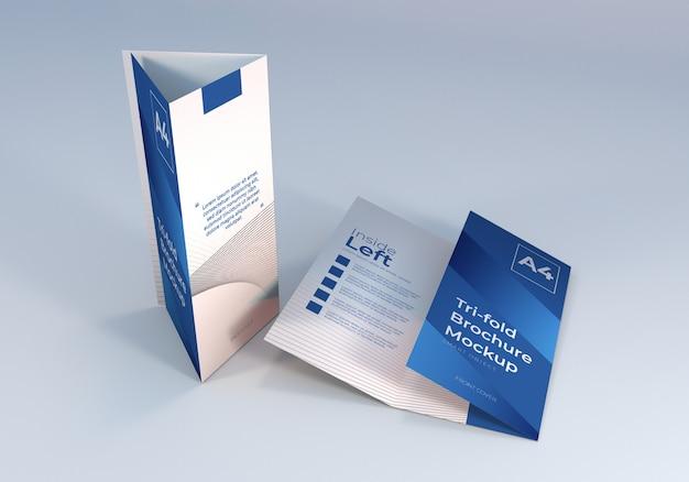 Reinigen sie das a4 trifold brochure mockup design