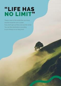 Reise-berg-marketing-vorlage psd-anzeigenplakat für agenturen