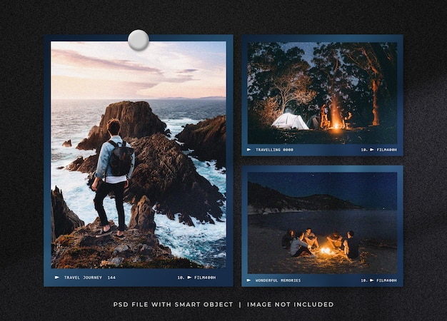 Reise fotorahmen set mockup design