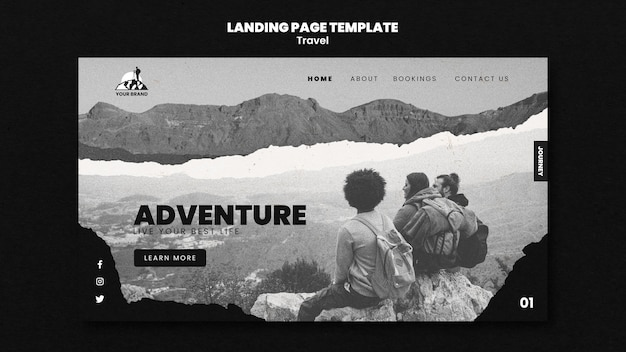 Reise-landingpage-vorlage