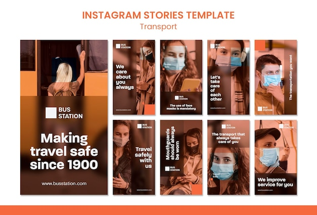 Reise sichere instagram geschichten vorlage