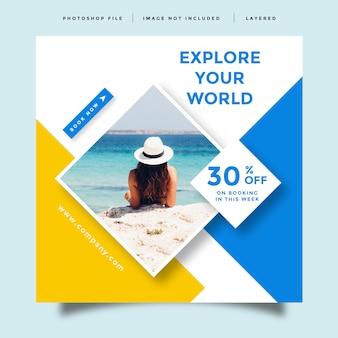 Reise social media feed post promotion