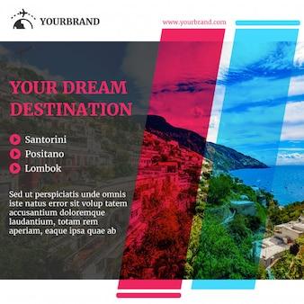 Reise- und tourismus-banner