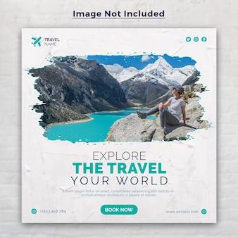 Reisebanner für social-media-posts