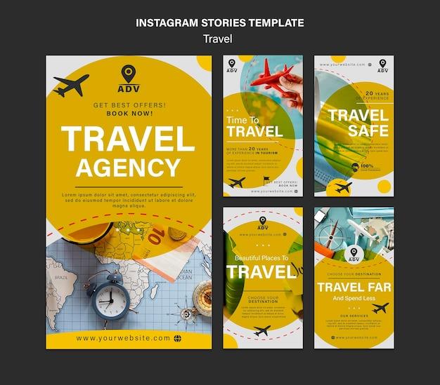 Reisebüro-social-media-geschichten Premium PSD